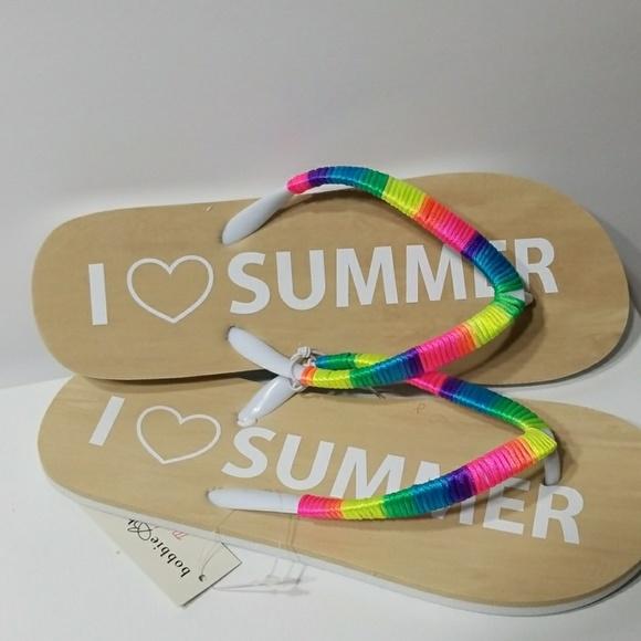 Bobbie Brooks Shoes - I ❤ SUMMER Flip flops